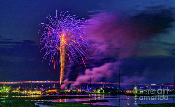 Photograph - Surf City Fireworks 2019-1 by DJA Images