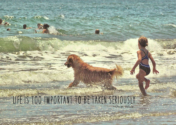Photograph - Surf Play Quote by JAMART Photography