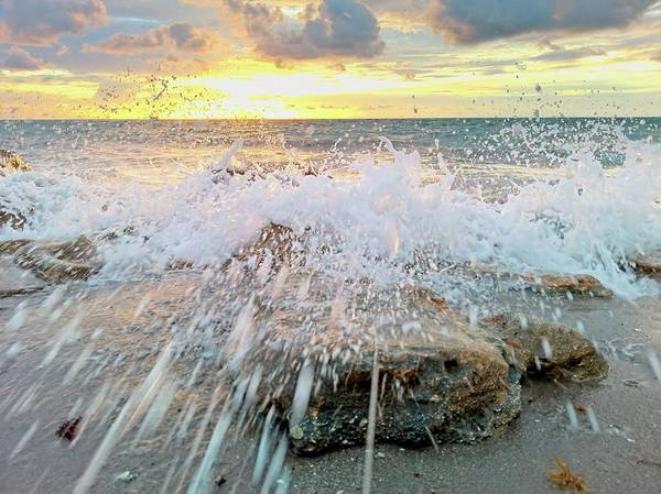 Photograph - Surf Splash by Steve DaPonte