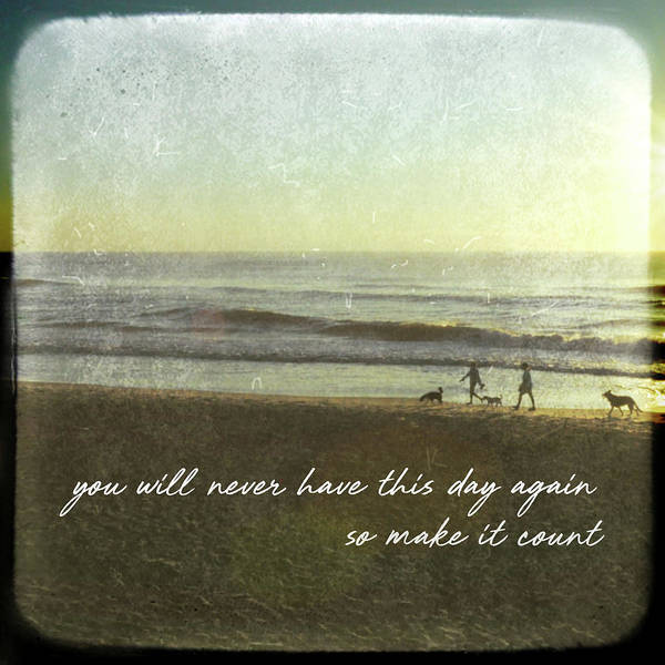 Photograph - Surf Stroll Quote by Jamart Photography
