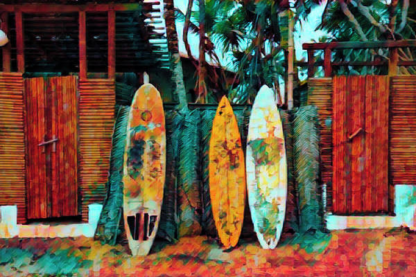 Photograph - Surfboards Island Art  by Debra and Dave Vanderlaan