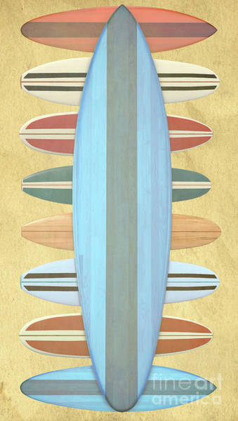 Wall Art - Photograph - Surfboards Paper by Edward Fielding