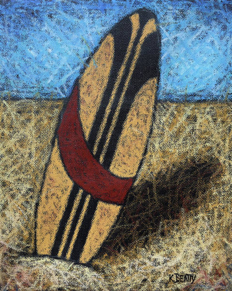 Wall Art - Painting - Surfboard's Ready by Karla Beatty