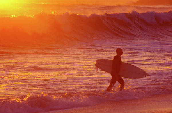 Wall Art - Photograph - Surfer At Sunset by Carlos Caetano