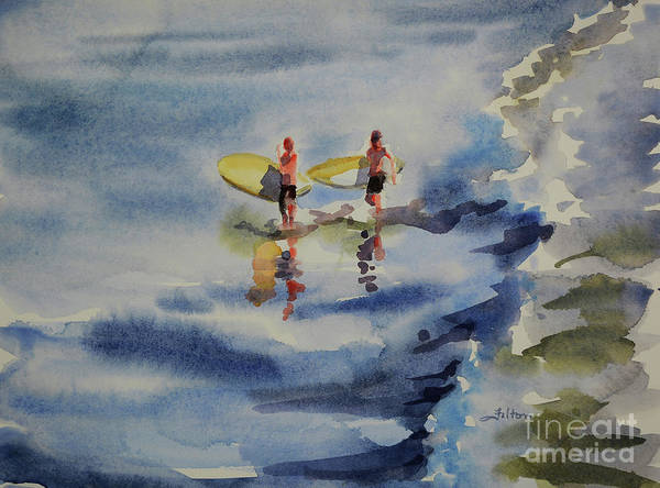 Painting - Surfer Boys by Julianne Felton