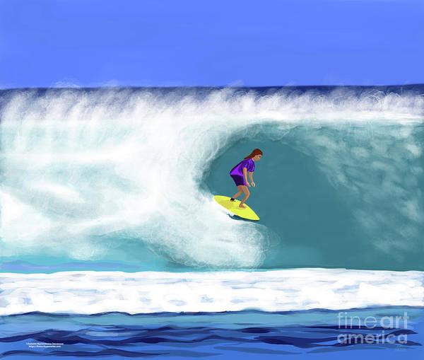Digital Art - Surfer Girl by Annette M Stevenson
