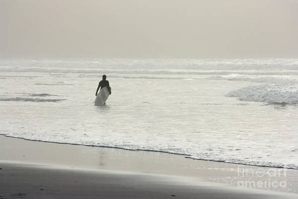 Sennen Cove Photograph - Surfer In The Mist by Terri Waters