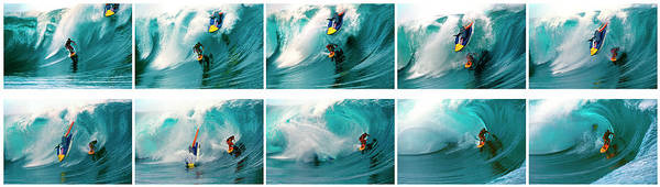 Wall Art - Photograph - Surfer In The Sea Narrowly Missed by Panoramic Images