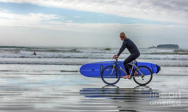 Pyrography - Surfer On Bike by Mauro Celotti
