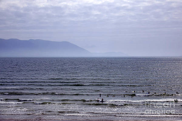 Dingle Peninsula Wall Art - Photograph - Surfers At Inch Beach by Olivier Le Queinec