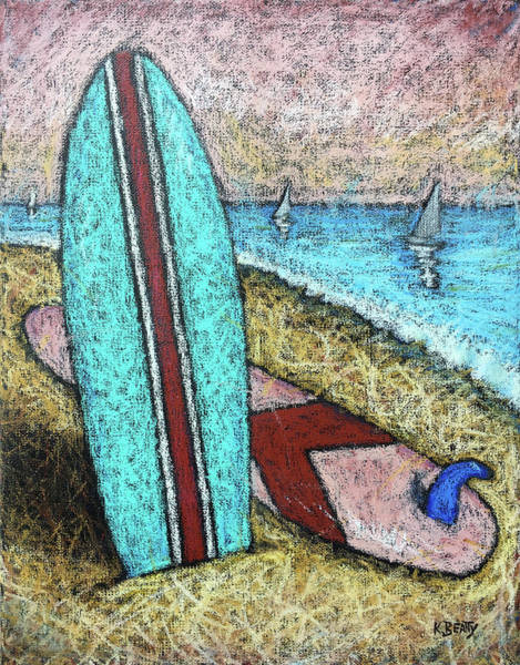 Wall Art - Painting - Surfing And Sailing by Karla Beatty