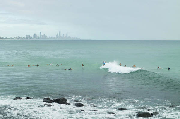 Surfing Photograph - Surfing Early Morning , Queensland by Southern Stock