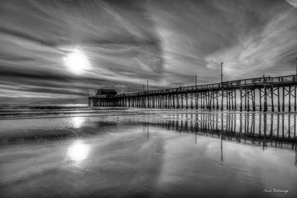 Photograph - Surfing Newport Pier Reflections Orange County California Los Angeles Collection Art by Reid Callaway