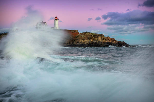 Photograph - Surf's Up At Nubble by Colin Chase