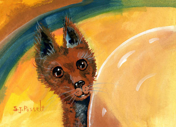 Painting - Surprise Here I Am by Sheri Jo Posselt
