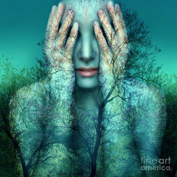Wall Art - Photograph - Surreal And Artistic Image Of A Girl by Valentina Photos