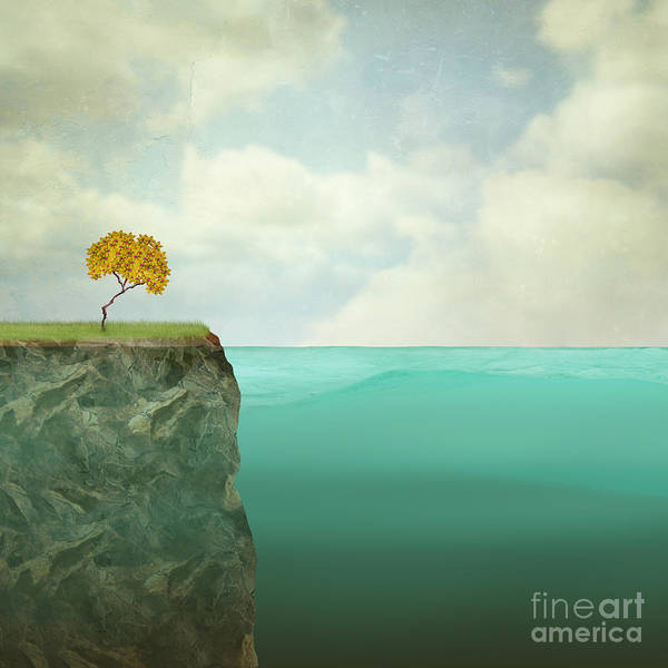 Wall Art - Digital Art - Surreal Illustration Of A Small Tree by Valentina Photos