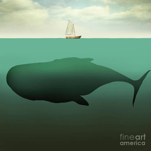 Wall Art - Digital Art - Surreal Illustration Of Little Sailboat by Valentina Photos