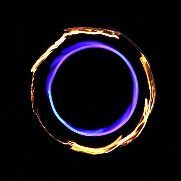 Photograph - Surreal Infinity Flame Fire Circle by Jena Ardell