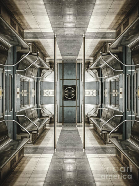 Digital Art - Surreal Subway Seats by Phil Perkins