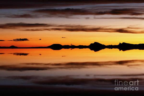 Photograph - Surreal Sunset Salar De Uyuni Bolivia by James Brunker