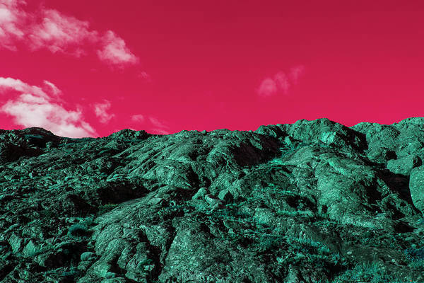 Photograph - Surreal Volcanic Landscape In Iceland by Mimi  Haddon