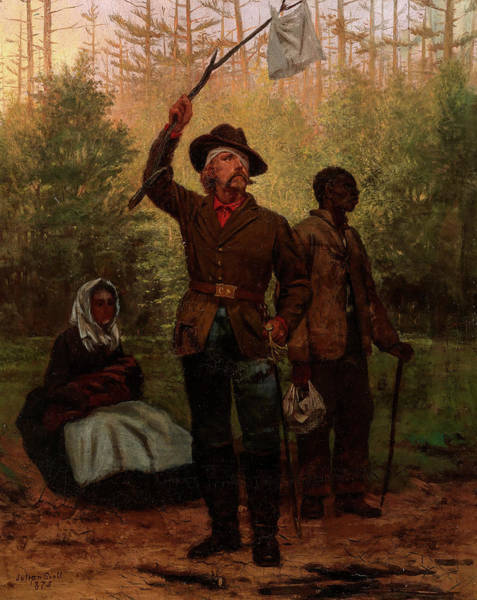 Wall Art - Painting - Surrender Of A Confederate Soldier, 1873 by Julian Scott