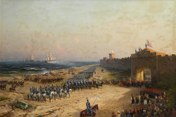 Surrendering Painting - Surrender Of The Turkish Fortress To The Russian Army by Petr Alexanderovich Sukhodolsky