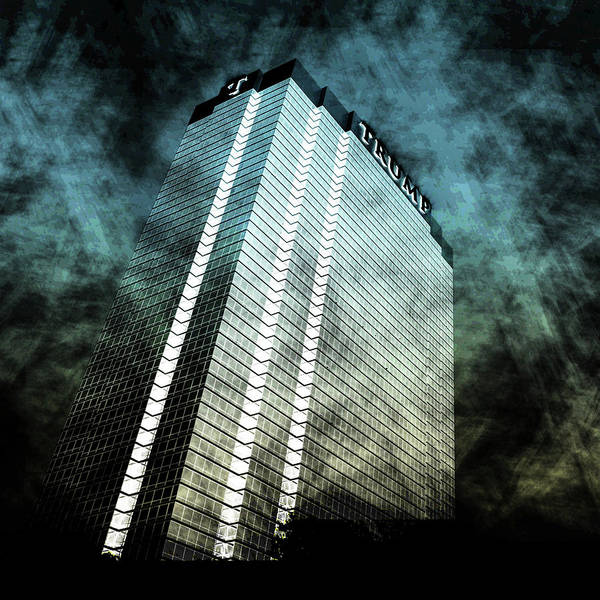Office Buildings Wall Art - Digital Art - Surrounded By Darkness by Az Jackson
