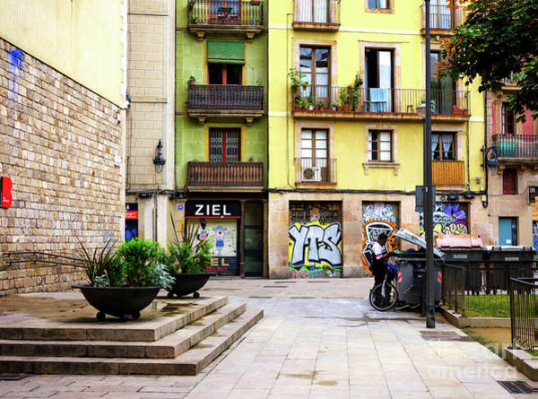 Photograph - Surviving In Barcelona Spain by John Rizzuto