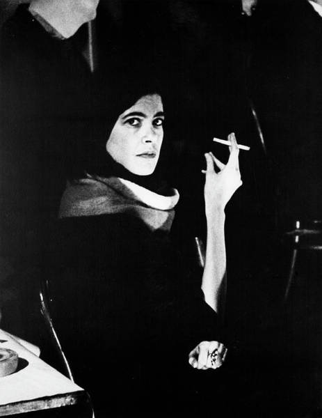 Photograph - Susan Sontag At Mills Hotel by Fred W. McDarrah