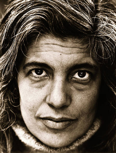 Philosopher Wall Art - Photograph - Susan Sontag Portrait Session by George Rose