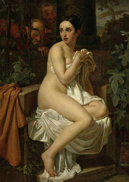 Wall Art - Painting - Susanna And The Elders, 1820 by Pierre Van Hanselaere