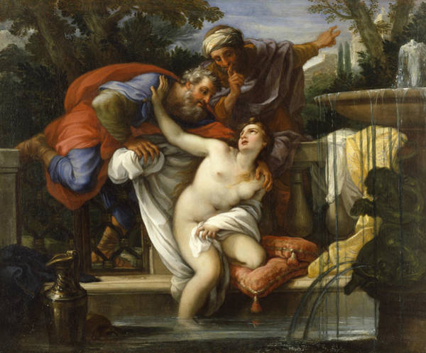 Painting - Susannah And The Elders by Giuseppe Bartolomeo Chiari