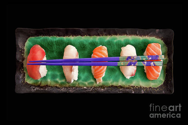 Asian Food Photograph - Sushi Plate by Delphimages Photo Creations
