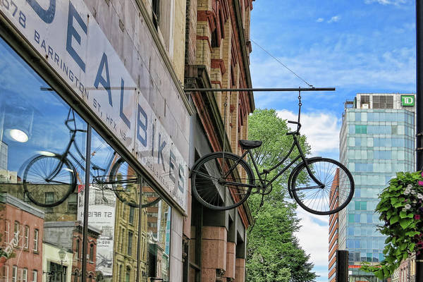 Photograph - Suspended Bike by Tatiana Travelways