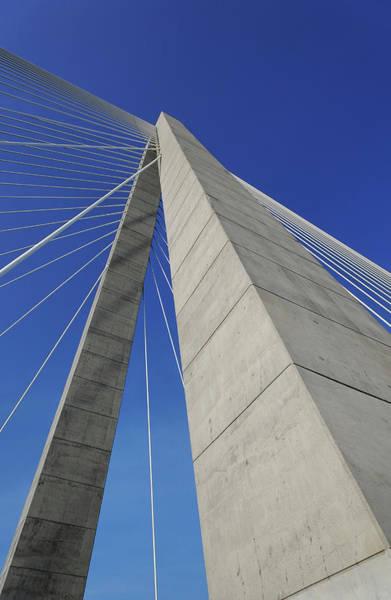 South Carolina Photograph - Suspension Bridge Details by Adam Jones