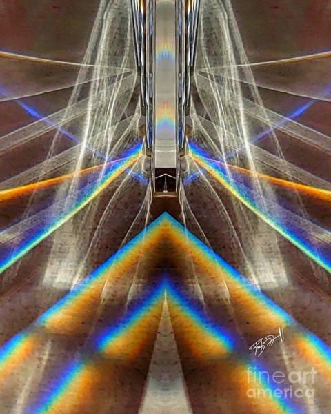 Digital Art - Suspension Bridge by Rob Mandell