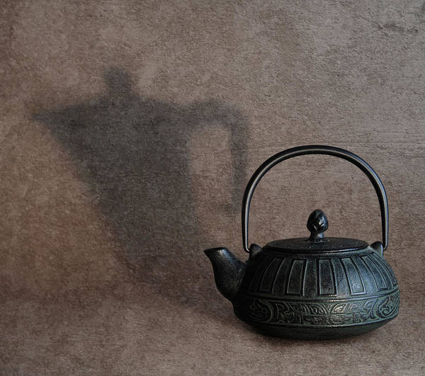 Teapot Photograph - Suspicious Shadow by Michele Franzese