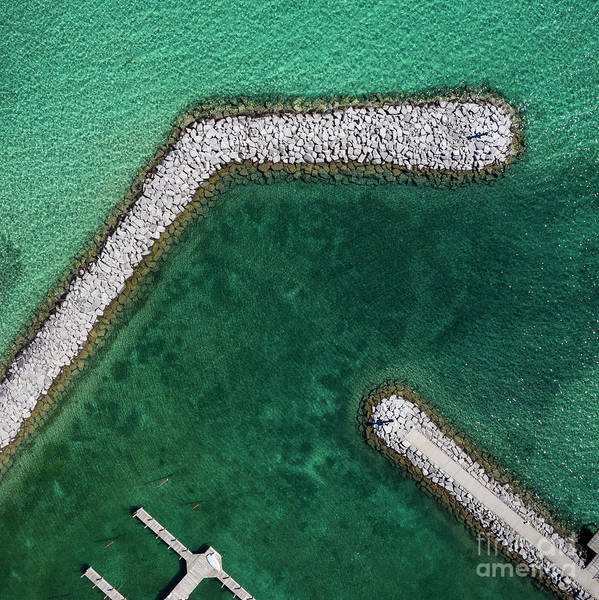 Wall Art - Photograph - Suttons Bay Harbor Aerial by Twenty Two North Photography