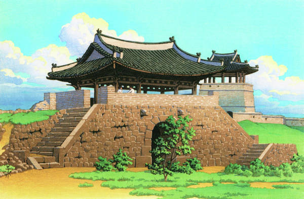 Wall Art - Painting - Suweon Seomun, The Sequel Of Scenes From Korea - Digital Remastered Edition by Kawase Hasui