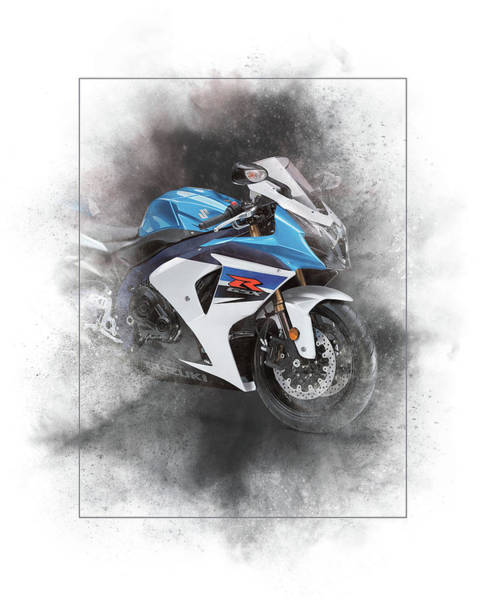 Japan Mixed Media - Suzuki Gsx-r600 Painting by Smart Aviation