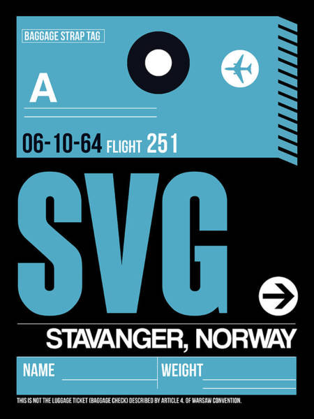 Wall Art - Digital Art - Svg Stavanger Luggage Tag II by Naxart Studio