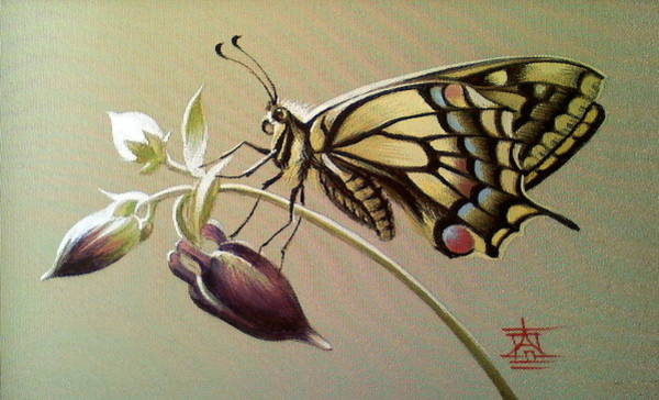 Painting - Swallowtail Butterfly by Alina Oseeva