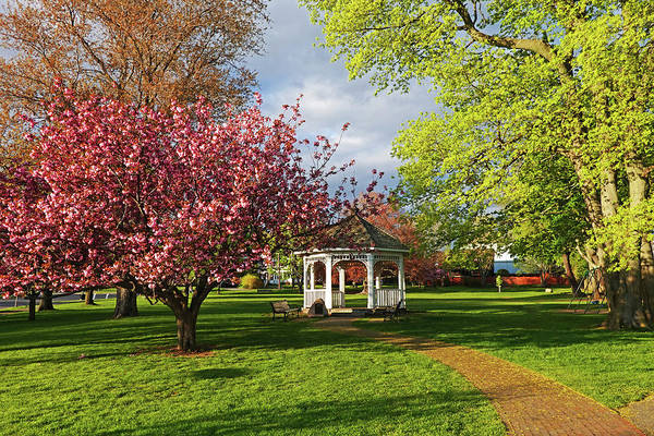 Photograph - Swampscott Gazebo In The Spring Swampscott Ma North Shore by Toby McGuire