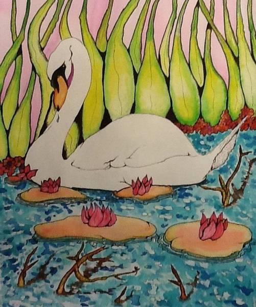 Trumpeter Swan Painting - Swan by Robert Hilger