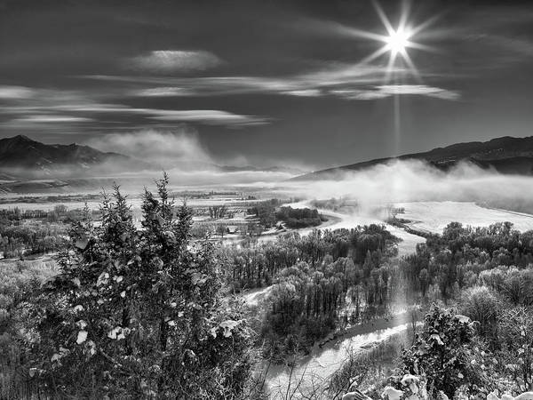 Photograph - Swan Valley Winter Black And White by Leland D Howard
