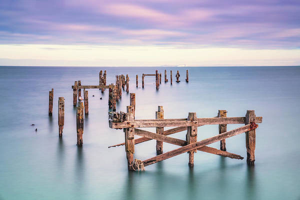 Photograph - Swanage Old Pier Colour Variation by Framing Places