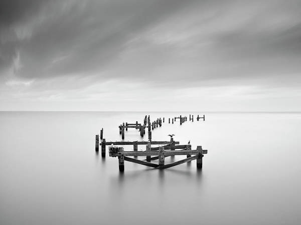 Dorset Wall Art - Photograph - Swanage Old Pier by Doug Chinnery
