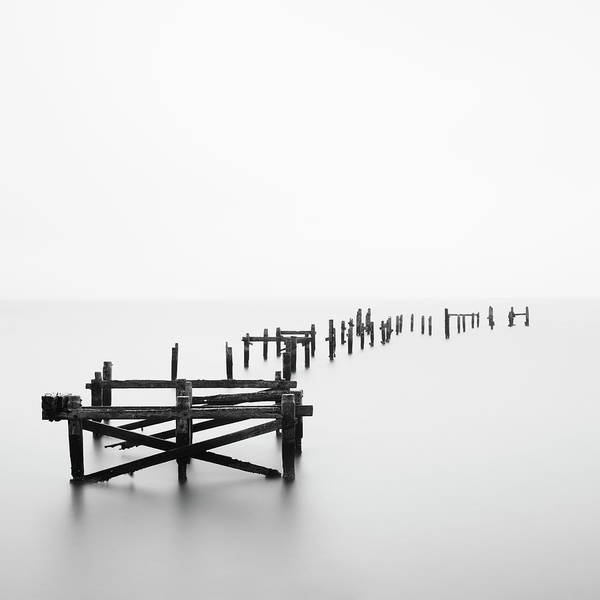 Damaged Photograph - Swanage Pier by Doug Chinnery